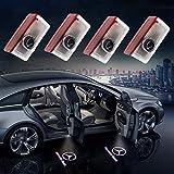 MUKEZON Luz de Bienvenida para Puerta de Coche con Logotipo HD para Mercedes-Benz, luz de identificación láser de cortesía, Foco de Sombra para GLC GLE GLS GLA A B Clase E Plug & Play