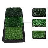 Crestgolf Golf Hitting Mat Mini Fairway Hitting Grass Mat Ayudas de Entrenamiento para Patios residenciales/Interiores/Exteriores Práctica de césped Antideslizante Suela de Goma-Tri-Grass