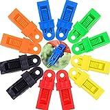 BESTZY Clip de la Tienda, 12 Piezas Clips Abrazadera de Toldo Clip de Tienda de campaña Herramienta de Apriete para Tienda de Campaña (Multicolor)