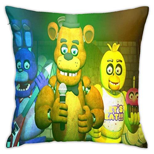 songyang Fantasy Five Nights at Freddy - Fundas de almohada decorativas de algodón para salón, sofá, cama, fundas de almohada suaves, 45 x 45 cm
