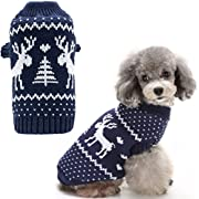 BINGPET Small Dog Puppy Sweaters Cute Reindeer Clothes