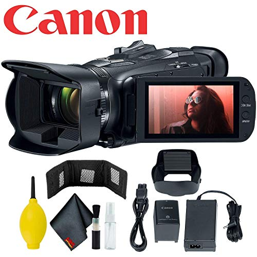 Canon Vixia HF G50 UHD 4K Camcorder (Black) w/Memory Card Wallet - 5Pc Lens Cleaning Kit - Dust Blower & Fiber Cloth