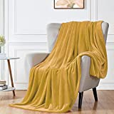 """Walensee Fleece Blanket Plush Throw Fuzzy Lightweight (Throw Size 50""""x60"""" Honey Gold) Super Soft Microfiber Flannel Blankets for Couch, Bed, Sofa Ultra Luxurious Warm and Cozy for All Seasons"""