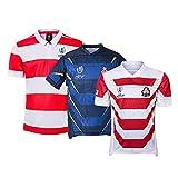YINTE Maillot De Rugby De La Coupe du Monde du Japon 2019, Hommes Rugby Jersey Summer Sports Loisirs T-Shirts Respirant Maillot De Football Polo Shirt, Soccer T-Shirt D'En Blue-XXXL