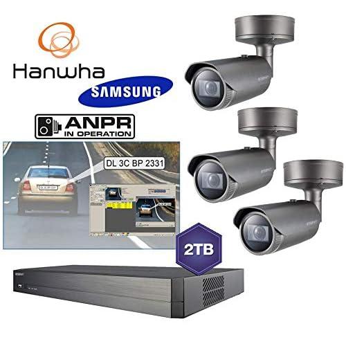 Samsung HD ANPR (48 ore di vendita) Kit di telecamere di riconoscimento Night Vision NVR 2TB 3X Cam
