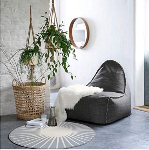 HUIJUNWENTI Redondo Simple Alfombra Dormitorio de la Plancha Anterior Silla de la computadora Silla giratoria de alfombras Cesta (Color : Gris, Talla : 90cm)