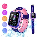 Smart Watch Phone for Kids, Waterproof Smartwatches with Tracker HD Touch Screen for Kids Games SOS Alarm Clock Camera Digital Wrist Watch Smartwatch Christmas Birthday Gifts for 3-12 Boy Girls(Red)