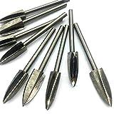 somubi Profesional de 5 piezas de 3 mm vástago afilado de madera tallado pluma esculpir broca de fresado raíz 3 cuchillas herramientas eléctricas