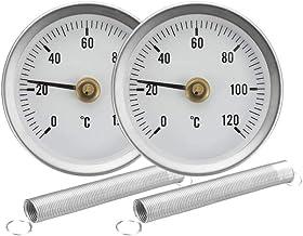 Milageto Inicio Industrial 63mm Indicador De Temperatura, Termómetro De Tubo Con Clip 2 Piezas