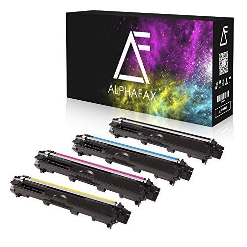 Alphafax 4 Toner kompatibel für Brother TN-241 TN-245 für Brother MFC-9142CDN, Brother DCP-9022CDW, MFC-9342CDW, MFC-9332CDW, HL-3150CDW, HL-3170CDW - Schwarz 2.500 Seiten, Color je 2.200 Seiten