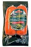Grobe Mettwürstchen frisch | Mettwurst geräuchert | Streichwurst als Brotaufstrich | 6x60g