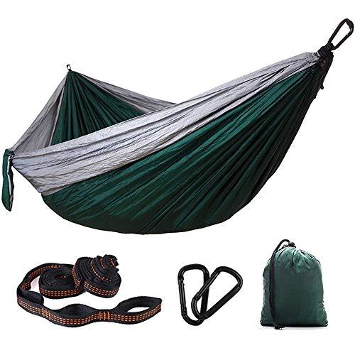 LKITYGF Alegre Hamaca Hamaca Paño para paracaídas Nylon Hamg Mock Outdoor Double Switch Bed para El Camping del Viaje para El Pista De Viajes Backyard (Color: A, Tamaño: 270cm x 140 cm)