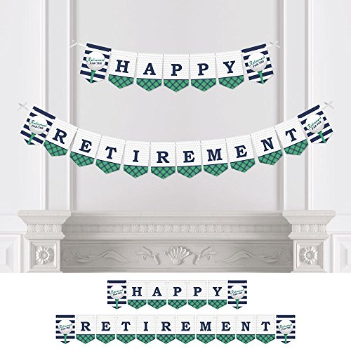Big Dot of Happiness Par-Tee Time - Golf - Retirement Party Bunting Banner - Golf Party Decorations - Happy Retirement
