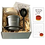 Vietnamese Coffee Maker Set Drip Coffee Maker Kit Gravity Insert 8oz by Thick Stainless Steel with 100pcs coffee fliters and 1 Coffee Scoop (Gift Packing)