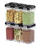 Boîte de conservation alimentaire avec couvercles Small-6pcs Noir