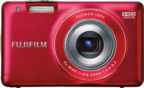 Fujifilm FinePix JX500 Kompaktkamera (14 Megapixel, 5-facher Zoom, Rot