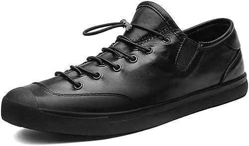 Ofgcfbvxd-SHSp Chaussures de Sport antidérapantes pour Hommes Chaussures Baskets athlétiques à Bout Rond et Bout Rond pour Escalade Camping Randonnée Marche (Couleur   Noir, Taille   40 EU)