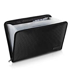 🔥DOUBLE LAYERS PROTECTION:This newly designed file folder uses different materials than other folder.Double Layered design, high quality Black Non-itchy Liquid Silicone Coated Fireproof Fiberglass which feels very comfortable to touch,this bag is FIR...