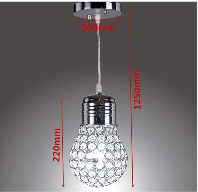 Lumières pendentif en cristal d'art moderne Cuisine Chambre Salle industrielle village américaine lampe suspendue pour le magasin café-bar pendentif la, Argent