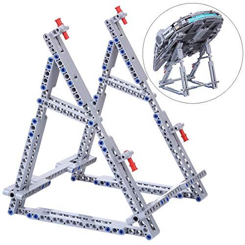 Vipo Upgrade Ständer für Lego Millennium Falcon, Universal Vertikaler Halter Kompatibel mit Lego 75105/75212/7965