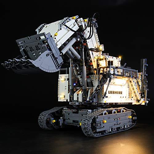 lego technics liebherr LIGHTAILING Set di Luci per (Technic Power Functions Escavatore Liebherr R 9800) Modello da Costruire - Kit Luce LED Compatibile con Lego 42100 (Non Incluso nel Modello)