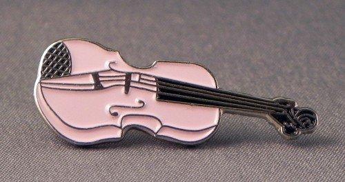 Broche en métal émaillé Motif orchestre pour violon (Rose)