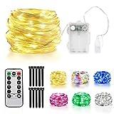 LED-Lichterkette, Außenlichterkette mit Fernbedienung für Gartendekoration, Trampolinlichter