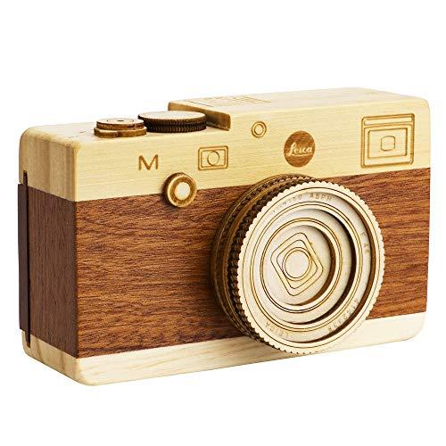 ZWS Beautiful Melody Creative Music Box Camera Wooden Music Box Toy Retro Birthday Gift Home Decoration Accessories Music Box