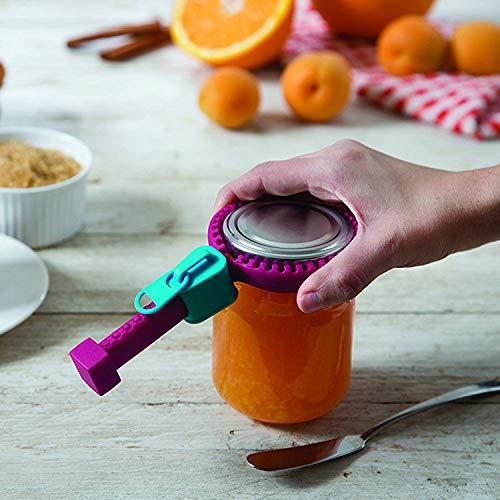 HUSHUS Abrelatas Abrelatas Manual de cremallera tipo abrelatas aumenta la fricción Tapa de la botella de silicona Herramienta de cocina