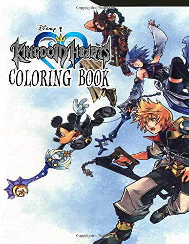 Kingdom Hearts Coloring Book: A Wonderful Video Game Franchise   Coloring Book for Kids and Adults