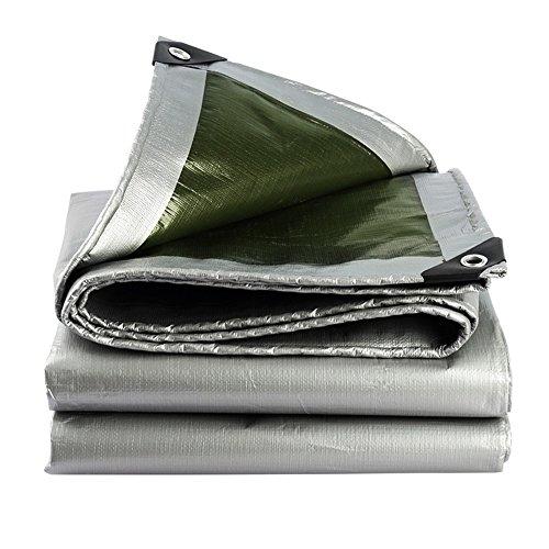 FEI Bâches Bâche imperméable résistante de PE de couverture de bâche pour la couverture d'auvent, de bateau, de RV ou de piscine couverture professionnelle bâche ( Couleur : Silver , taille : 5*6m )