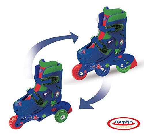 D'arpeje Outdoor OPJM084 Pyjamasques 3 Wheels-2 in 1 Ajustable inliner-Skates