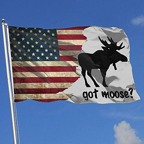 Elaine-Shop Outdoor Flags USA Flagge Got Moose 4 * 6 Ft Flagge für Home Decor Sport Fan Fußball Basketball Baseball Hockey