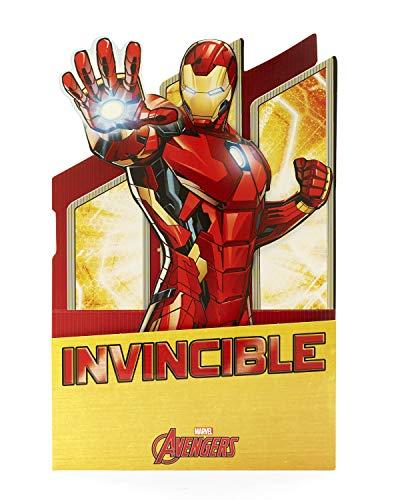 Pop Up Geburtstagskarte – Iron Man Geburtstagskarte Pop-Out, Iron Man 3D Karte, Neuheit Geburtstagskarte, Ideales Geschenk für Kinder – Marvel