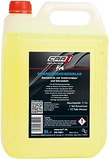 CAR1 Scheibenreiniger Konzentrat mit Insektenlöser Frontscheibe Heckscheibe Sommer Citrusduft 5L