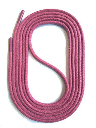 SNORS runde Schnürsenkel GEWACHST PINK 90cm, Ø2,5mm, Baumwolle, Rundsenkel für Business, Anzug- und Lederschuhe, reißfest, Made in Germany