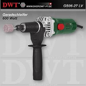 Amoladora recta DWT 600 Watt con regulador de velocidad y accesorios – GS06-27 LV