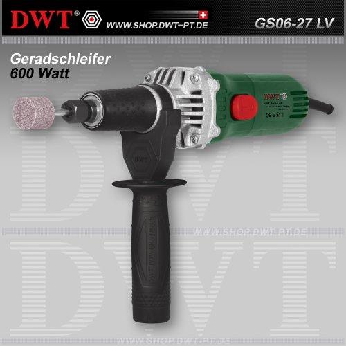 Amoladora recta DWT 600 Watt con regulador de velocidad y accesorios - GS06-27 LV