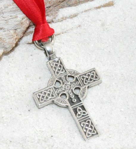 Trilogy Jewelry Pewter Celtic Cross Triquetra Knot Christmas Ornament and Holiday Decoration