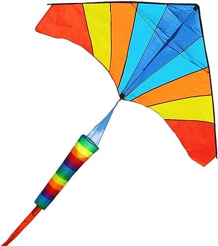 Caixia Erwachsene Kinder Anf er Bunte Drachen, Regenbogen Dreieck Größe Drachen, stabile und leicht zu fliegen Drachen (Größe   800m line)