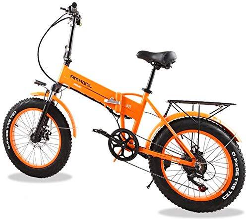 Bicicleta eléctrica Bicicleta eléctrica por la mon 20 pulgadas eléctrica Bici de montaña Diseño oculto Batería de iones de litio de gran capacidad (48V 350W) Bicicleta eléctrica Tres modos de trabajo