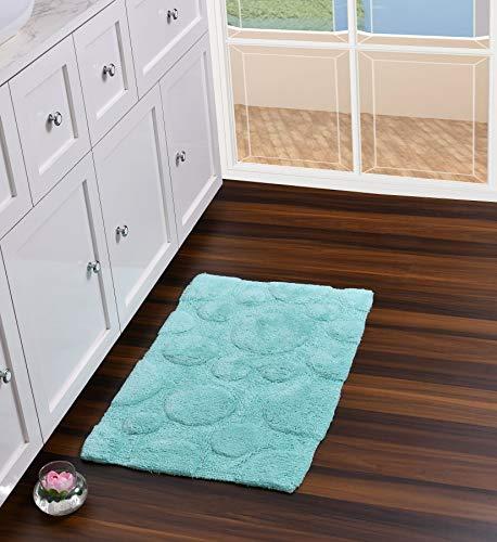 UMI Alfombra de baño de 100% algodón de tacto lujoso, extra absorbente...