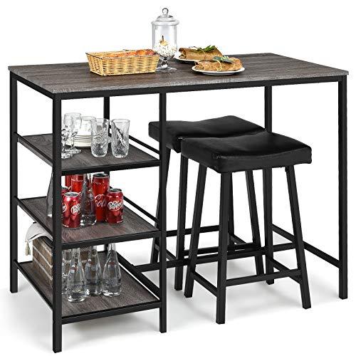 pub table and bar stools - 8