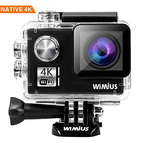 WiMiUS I3 Action Cam Native 4K 14MP Ultra HD Actioncam WiFi Action Kamera 40M Unterwasserkamera mit 2 Akkus und Transporttasche