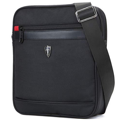 """Victoriatourist V7002 Vertical Shoulder Messenger Bag for iPad/Tablet Upto 10.1"""", Black"""