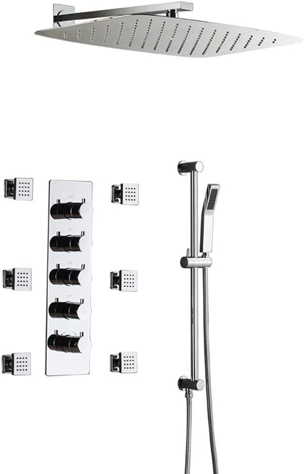 JF-XUAN Shower Memphis Mall Bath Set wit OFFer Thermostatic Wall-Mounted