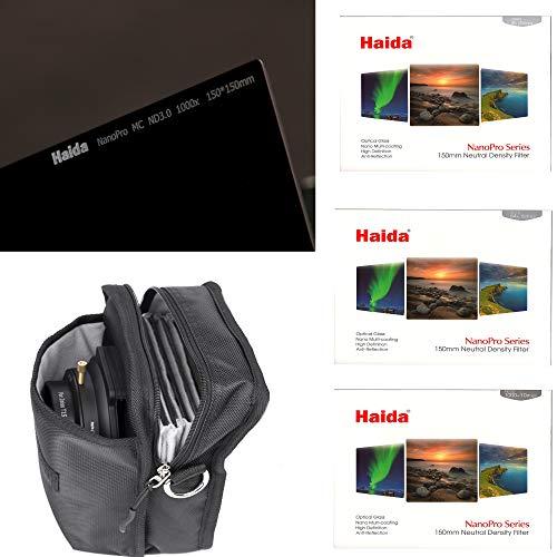 HAIDA NanoPro MC ND Serie 150 Graufilterset - ND 0.9 (8X) - ND 1.8 (64x) - ND 3.0 (1000x) inklusive Haida Trage/Umhängetasche