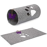 猫のトンネル スプライシングおよび折りたたみ猫遊ぶチャンネルローリングドラゴンパズル猫のおもちゃペット用品 おもちゃ (色 : グレー, Size : ONE SIZE)
