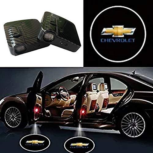 SOONDAR Car Door Lights for Chevrolet Upgraded Universal Sensor Car Door Led Logo Projector Light (2PCS)