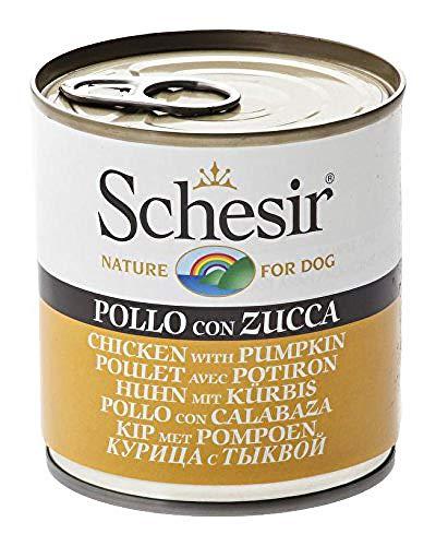 Schesir Comida para Perros Dog mojada con Pollo/atún y Verduras en Diferentes variedades, Ingredientes Naturales, 16 latas x 285 g